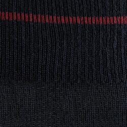 Winter-Reitsocken 500 Warm Erwachsene marineblau/bordeaux