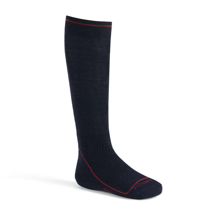COLD WEATHER RIDING AD. GLOVES SOCKS - 500 Warm Socks - Navy