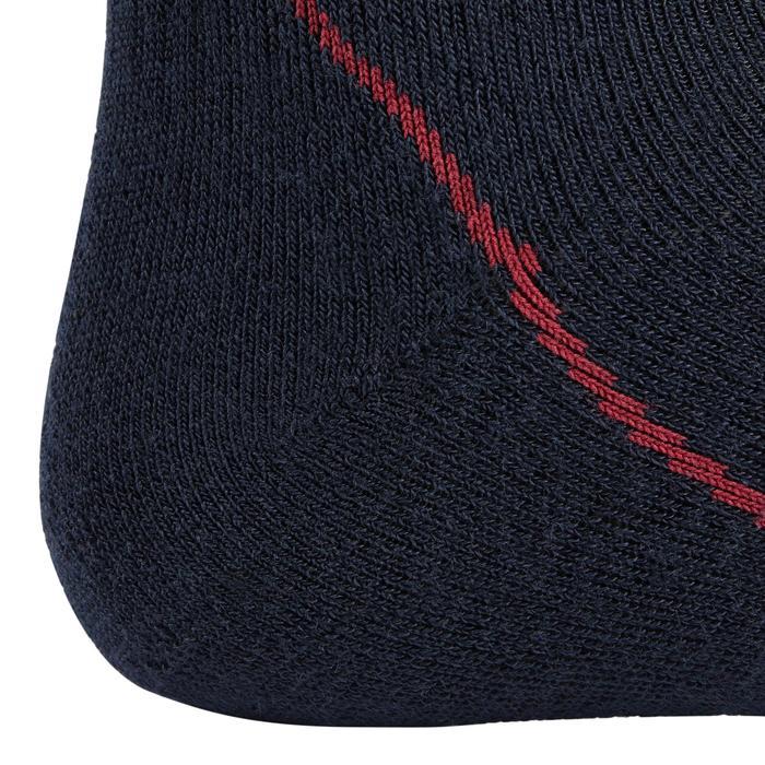 Chaussettes chaudes équitation adulte 500 WARM marine/bordeaux