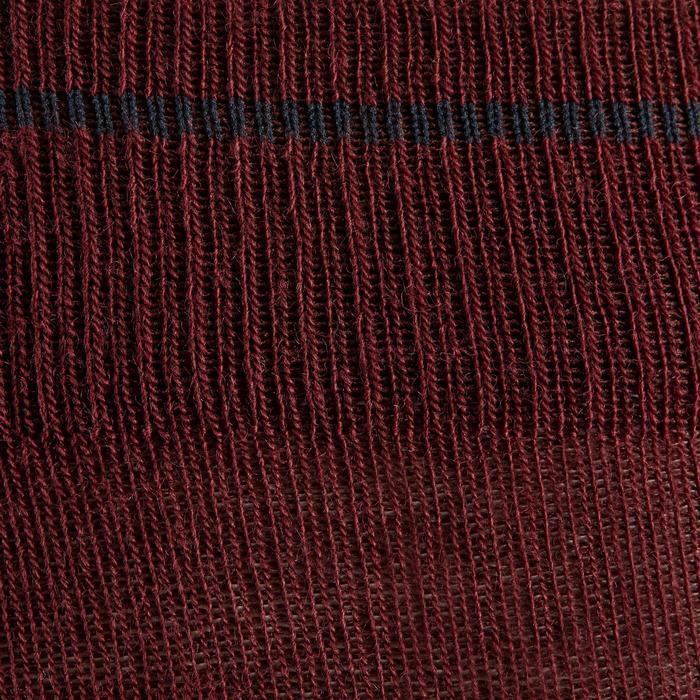 Chaussettes chaudes équitation adulte 500 WARM bordeaux x1
