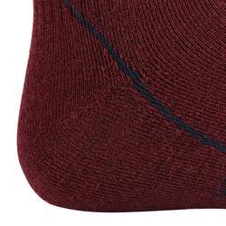 Chaussettes chaudes équitation adulte 500 WARM bordeaux/gris