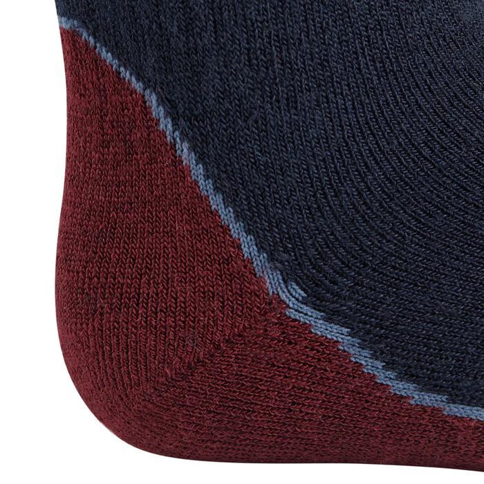 Chaussettes chaudes équitation enfant 500 WARM marine/bordeaux x1