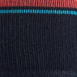 Chaussettes chaudes équitation enfant 500 WARM marine/rose x1