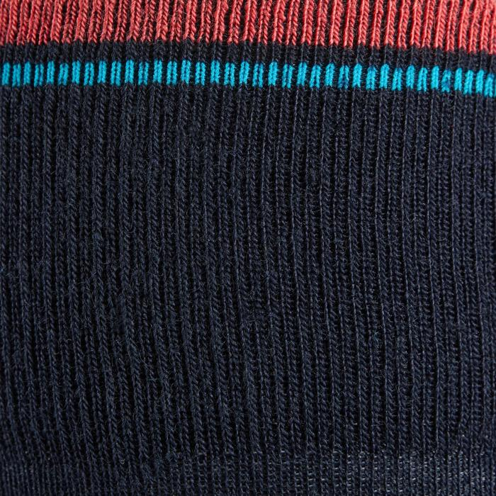 Winter-Reitsocken 500 Warm Kinder marineblau/rosa 1 Paar