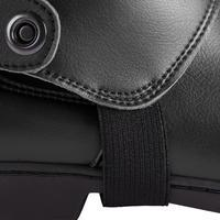 500 Adult Synthetic Horseback Riding Half Chaps - Black
