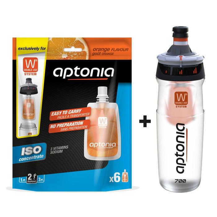 OFERTA Bidón Double Use 700 ml + Bebida isotónica monodosis ISO Naranja 6 x43 ml
