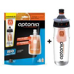PROMO Bidon Double Use 700 ml + siroopzakjes isotone dorstlesser sinaas 6x43 ml