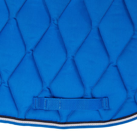500 Horse Riding Saddle Cloth For Horse/Pony - Electric Blue