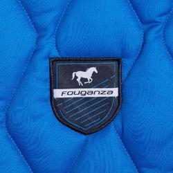 Mantilla de silla equitación poni y caballo 500 azul eléctrico