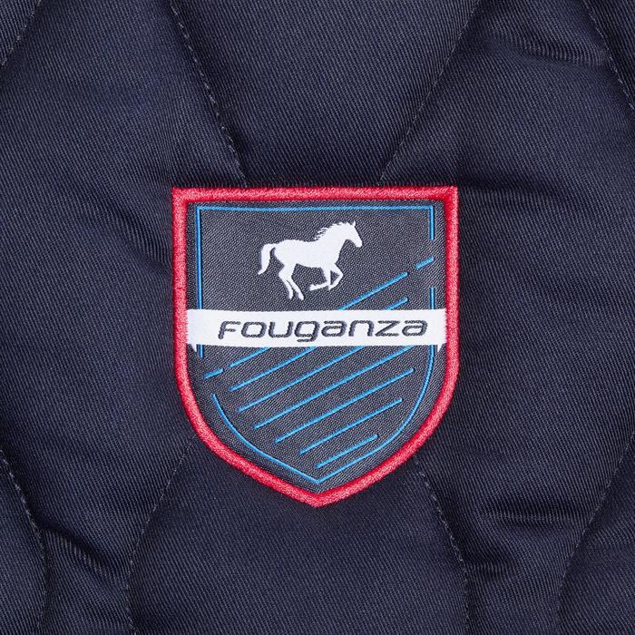 Tapis de selle équitation cheval et poney 500 gris pailleté - 1344124
