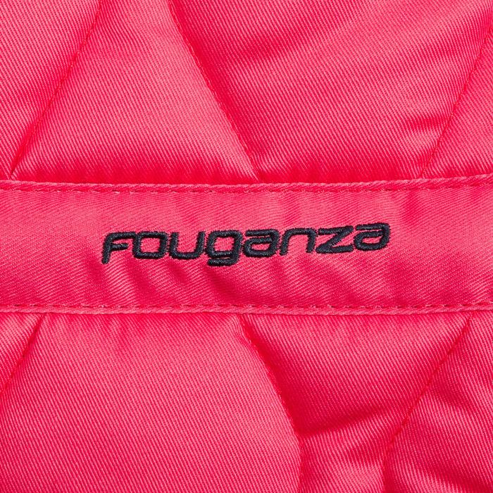 Mantilla de silla equitación poni y caballo 500 rosa