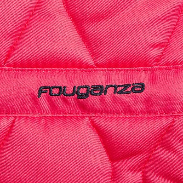 Mantilla silla Equitación Fouganza 500 Poni Y Caballo Rosa