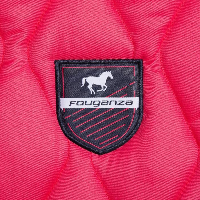 Tapis de selle équitation cheval et poney 500 gris pailleté - 1344147