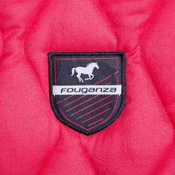 Tapis de selle équitation cheval et poney 500 rose
