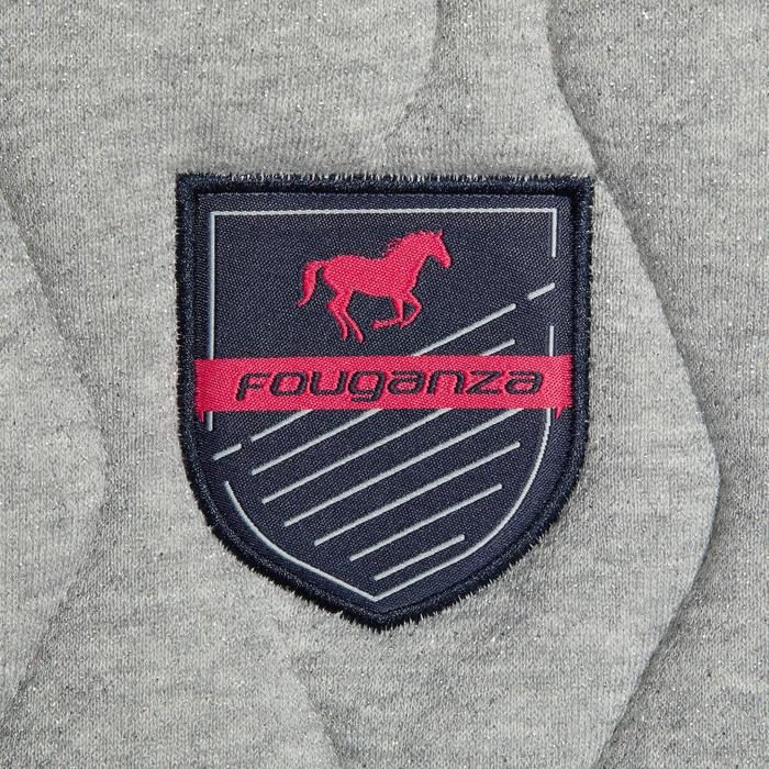Zadeldek 500 ruitersport paard en pony grijs met glitters / roze