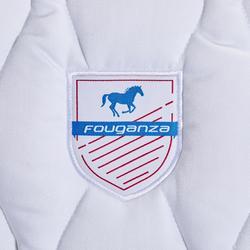 Mantilla de silla equitación poni y caballo 500 blanco