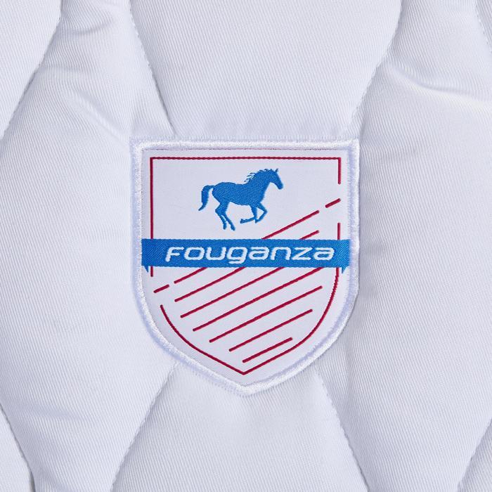 Tapis de selle équitation cheval et poney 500 gris pailleté/rose - 1344167