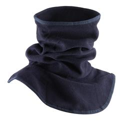 Fleece nekwarmer met borststuk voor kinderen, ruitersport, marineblauw