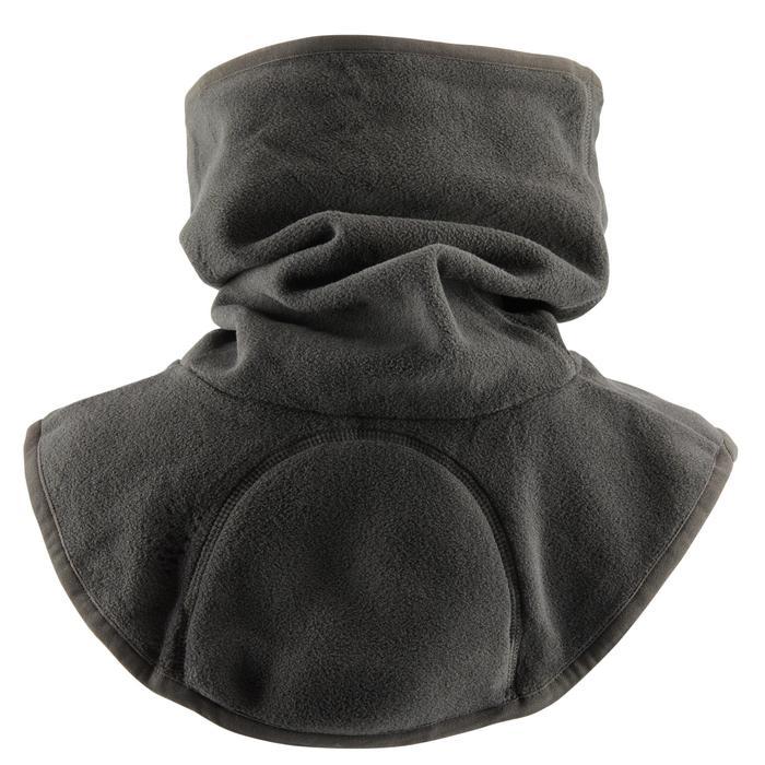 Schlauchschal Fleece Reiten Kinder dunkelgrau