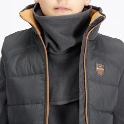 Fleece nekwarmer met borststuk voor kinderen, ruitersport, donkergrijs