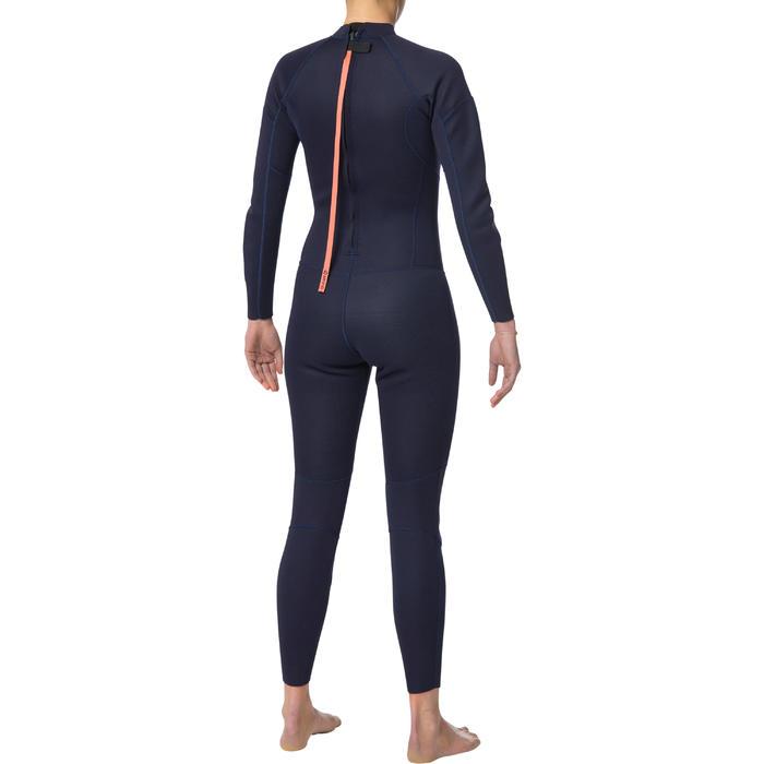 100 Women's 2/2 mm neoprene navy blue surfing wetsuit