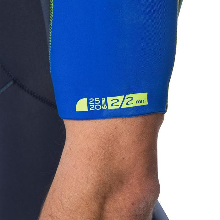 Heren shorty 900 neopreen 2 mm rits op de borst blauw