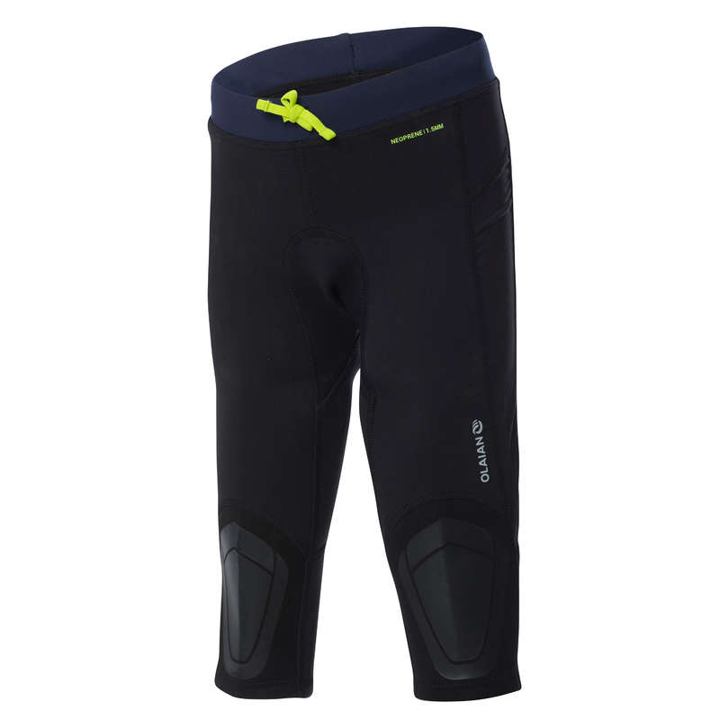 JUNIOR SOLAR PROTECTION WEAR Surf - NEOLEGS JR cropped trousers BK OLAIAN - Surf Clothing