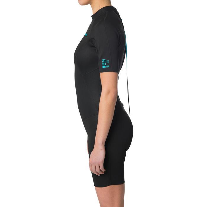 Dames shorty wetsuit 100 1,5 mm zwart
