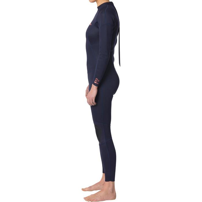 Dames wetsuit 100 neopreen 2/2 mm marineblauw