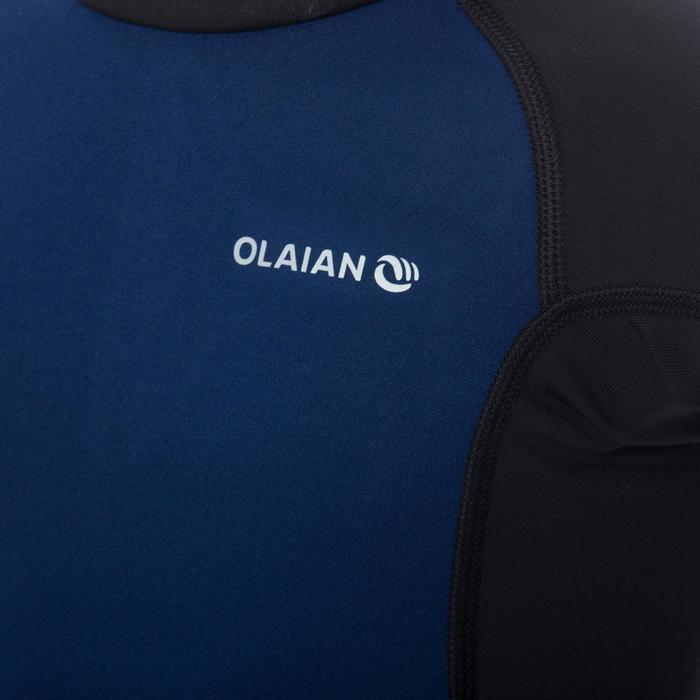 Top Camiseta Proteción Solar Playa Surf Olaian Niño Azul Noche Negro ANTI-UV