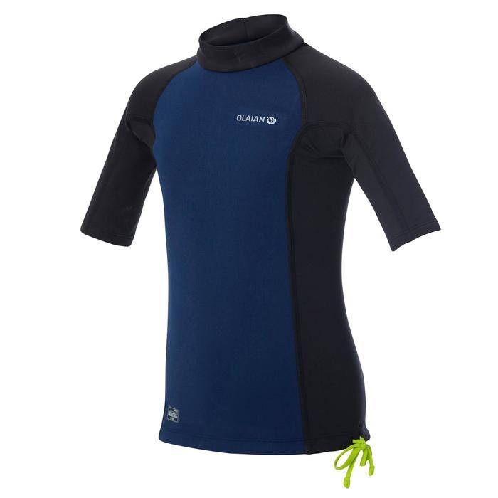 tee shirt anti UV surf top néoprène thermique manches courtes enfant - 1344377