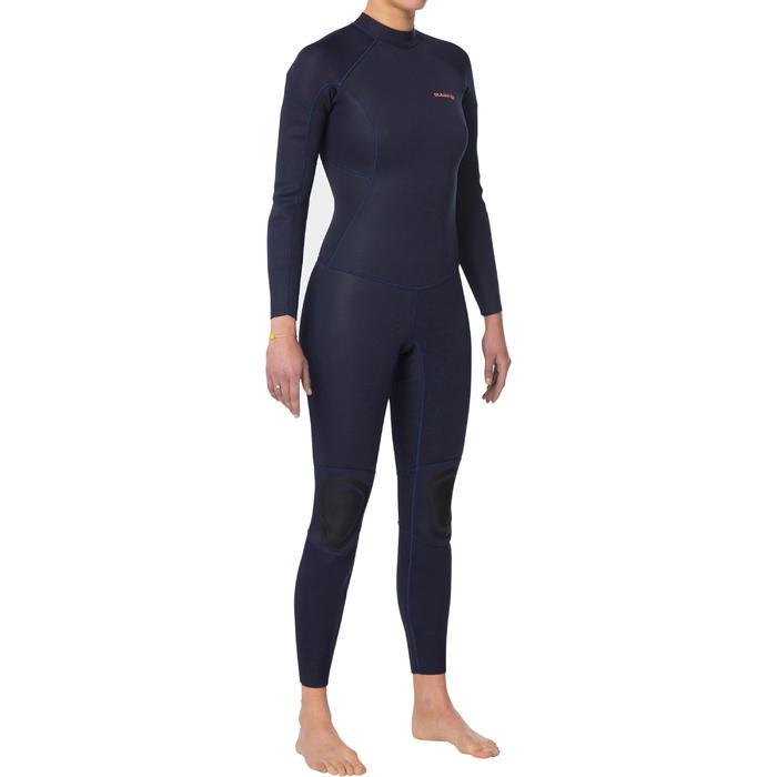 Neoprenanzug Surfen 100 Neopren 2/2mm Damen marineblau