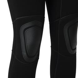 Neoprenanzug Surfen 100 Neopren 4/3mm Back Zip Damen schwarz