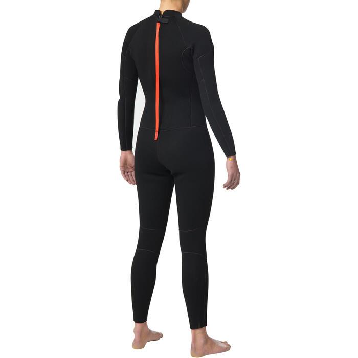 Dames wetsuit 100 neopreen 4/3 mm zwart - 1344390