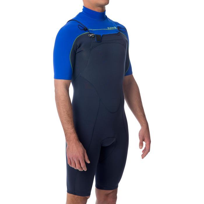 Combinaison Surf shorty 900 Néoprène 2mm Zip Poitrine Homme bleu - 1344396