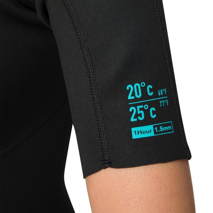 Neoprenanzug Shorty Surfen 100 Neopren 1,5mm Damen schwarz