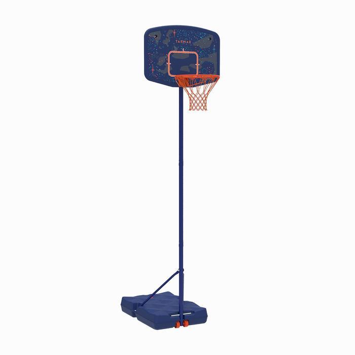 Panier de basket enfant B200 EASY bleu espace. 1,60m à 2,20m. Jusqu'à 10 ans. - 1344435