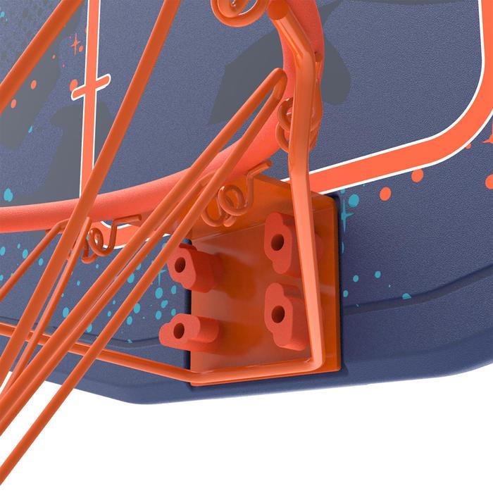 Panier de basket enfant B200 EASY bleu espace. 1,60m à 2,20m. Jusqu'à 10 ans. - 1344439