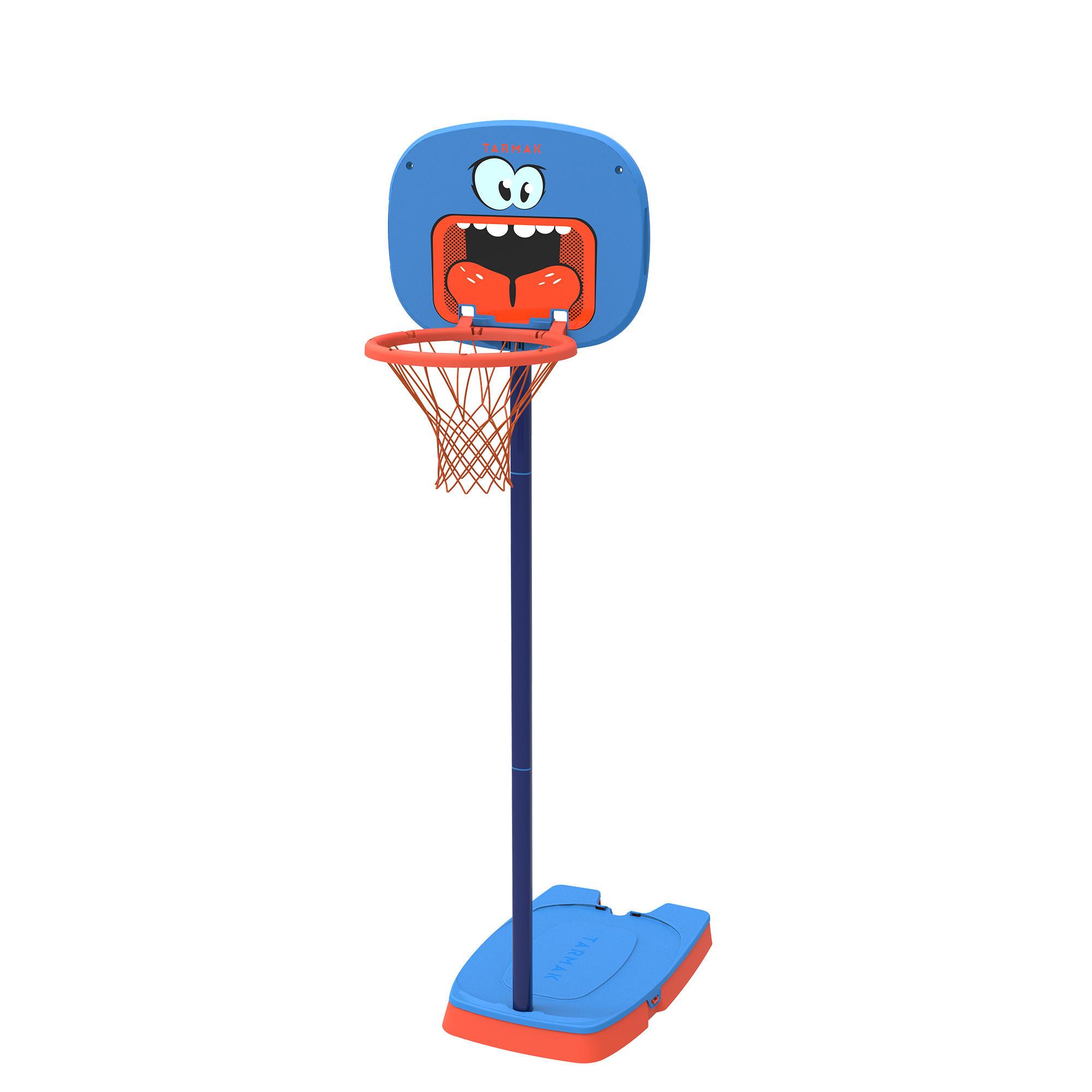 Canasta de básquetbol para niños K100 Monstre azul. 0.9 m a 1.2 m. Hasta 5 años.