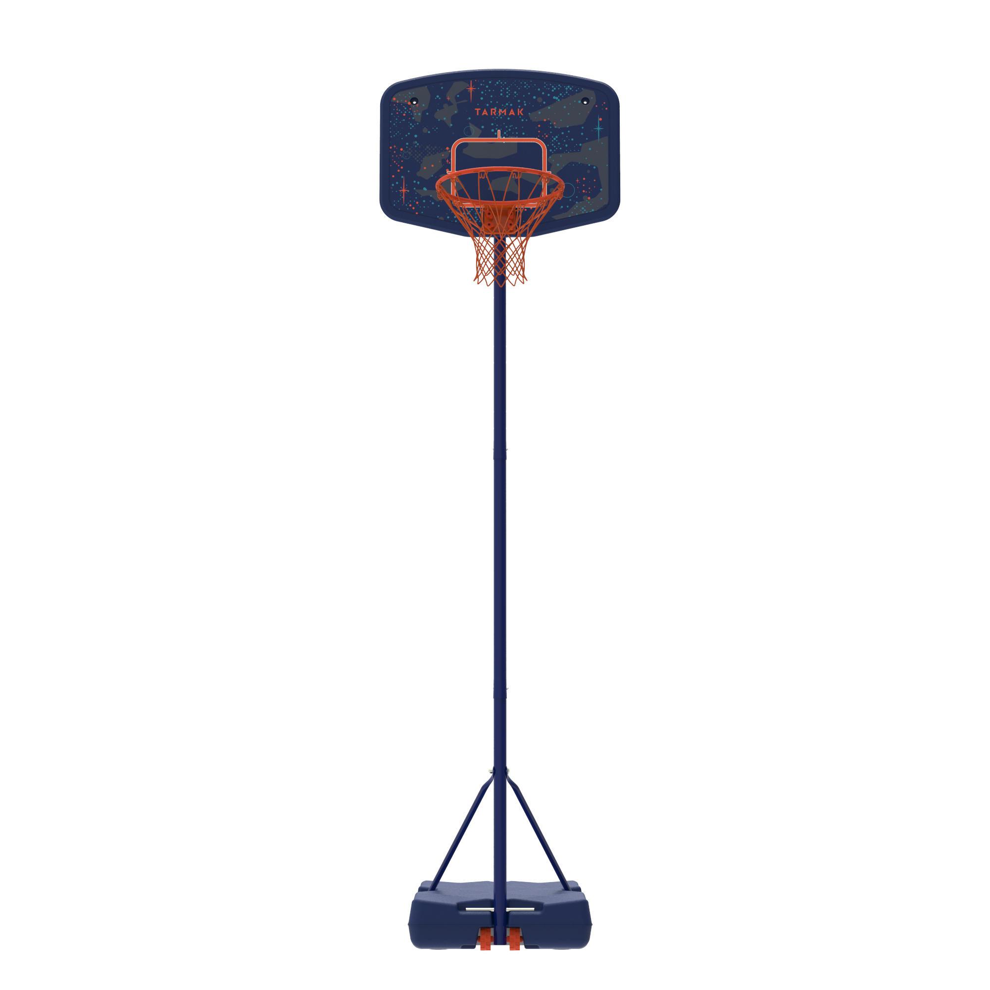 Panier de basket enfant B200 EASY bleu espace. 1,60 m à 2,20 m. Jusqu'à 10 ans.
