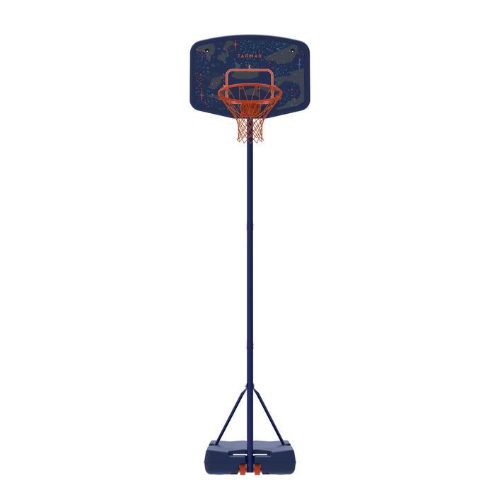 Panier de basket enfant B200 EASY bleu espace. 1,60m à 2,20m. Jusqu'à 10 ans. - 1344447