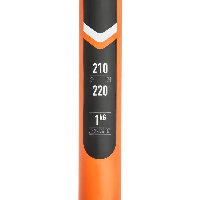 可調可拆式碳纖維獨木舟划槳X500(兩件式)-210-220 CM