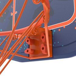 Panier de basket B200 EASY bleu espace à fixer au mur. Enfant jusqu'à 10 ans.