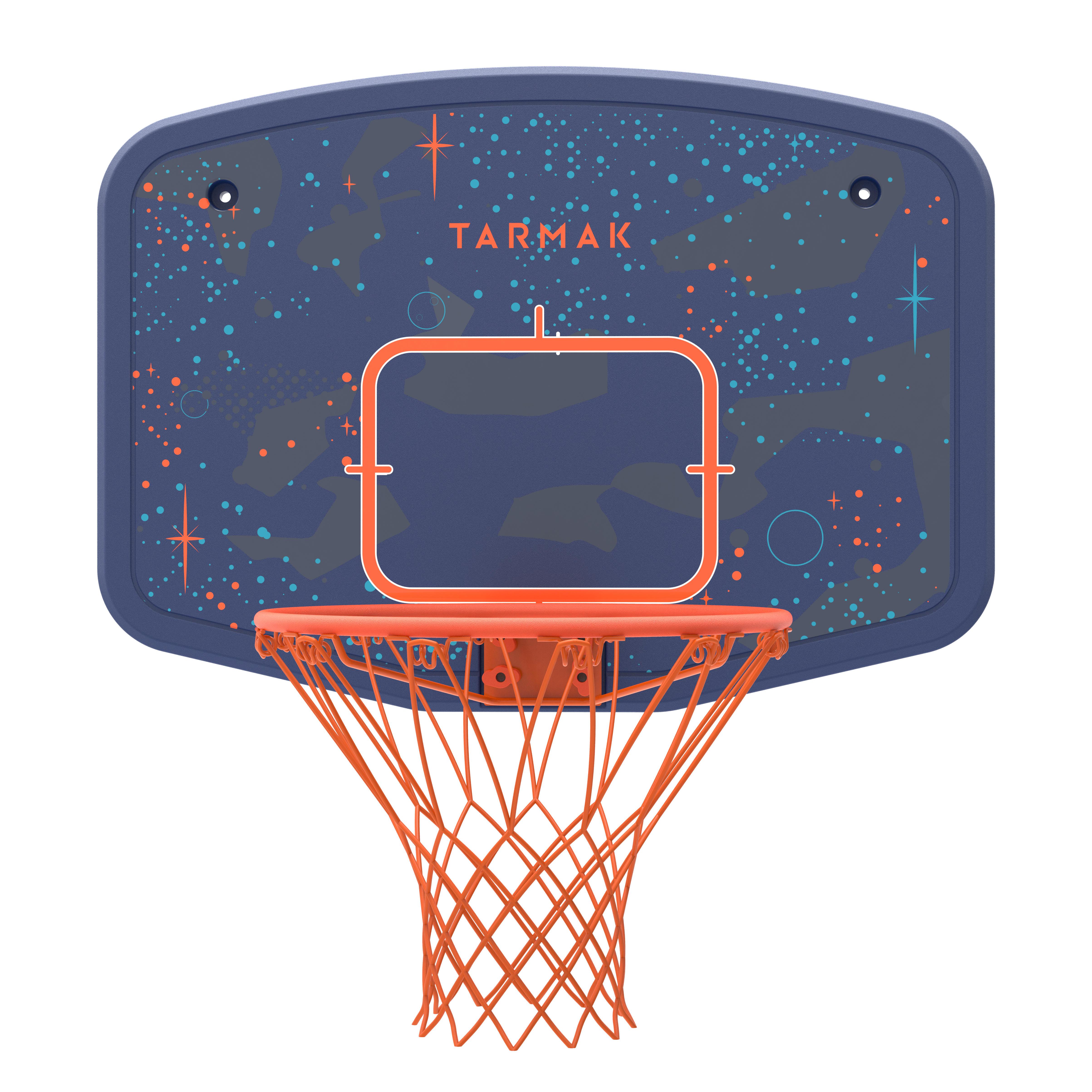 Panneau de basket enfant B200 EASY bleu espace. À fixer au mur. Jusqu'à 10 ans.