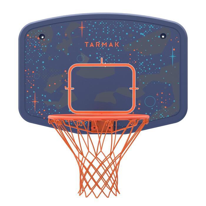 Panneau de basket B200 EASY bleu espace à fixer au mur. Enfant jusqu'à 10 ans.