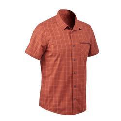 Chemise manches courtes Randonnée arpenaz 100 homme carreaux