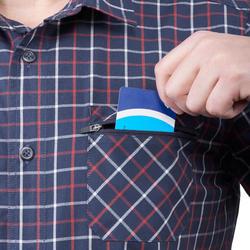 Camisa de manga corta TRAVEL 50 hombre a cuadros Azul