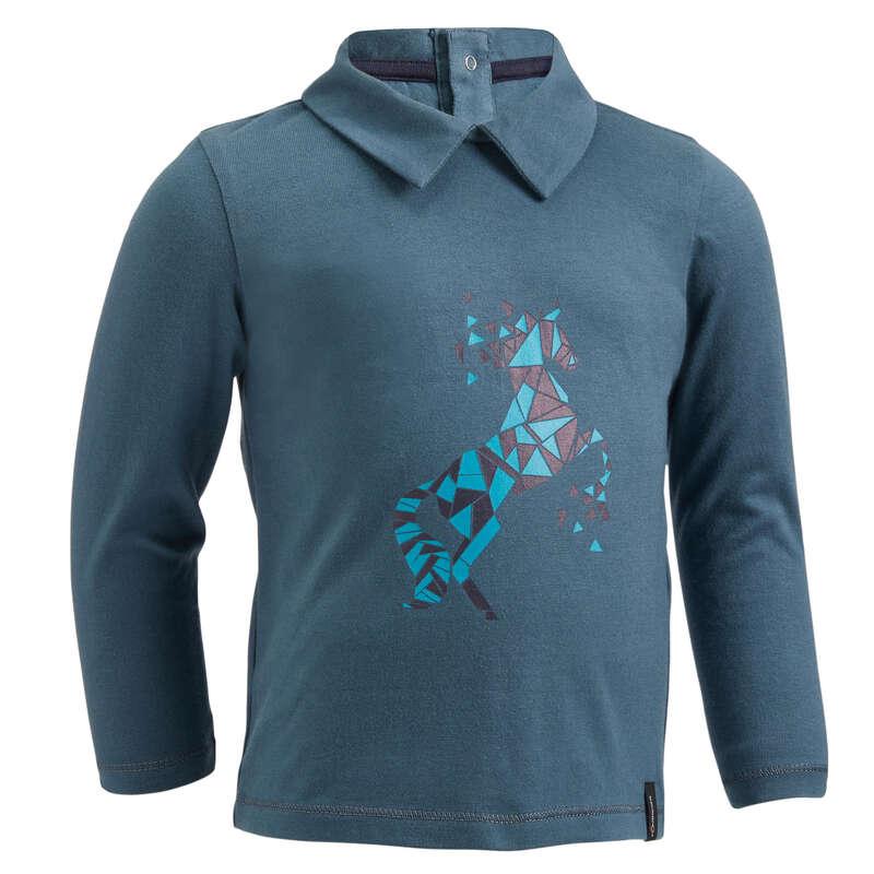 Gyerek ruházat Lovaglás - Kisgyerek lovas póló, 140-es FOUGANZA - Lovaglás