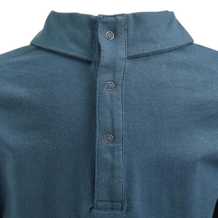 Polo de manga larga equitación baby 40 azul grisáceo