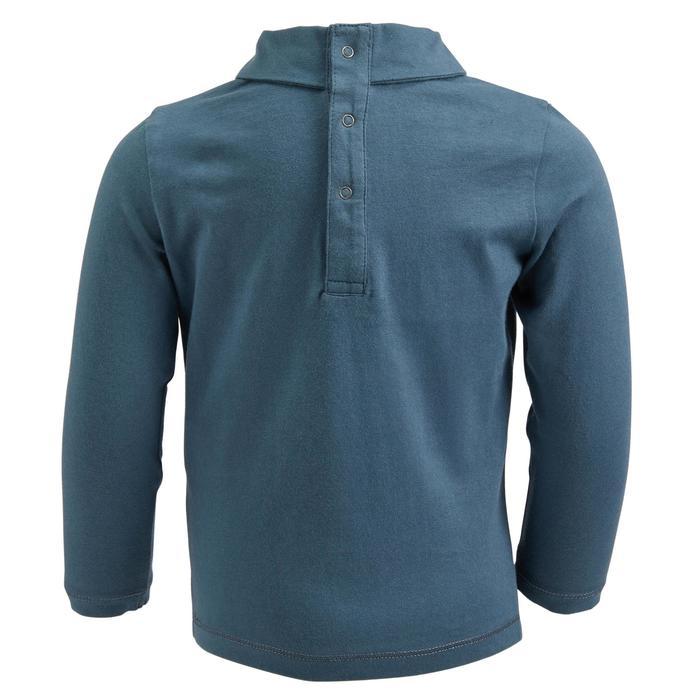 Polo manches longues équitation baby 140 bleu grisé